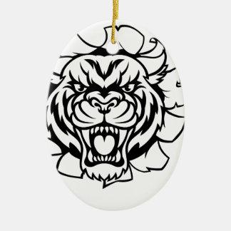 Ornamento De Cerâmica Tigre que guardara a bola de grilo que quebra o