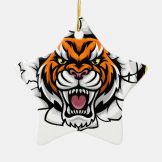 Ornamento De Cerâmica Tigre que guardara a bola de tênis que quebra o