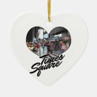 Ornamento De Cerâmica Times Square da lembrança da skyline da Nova