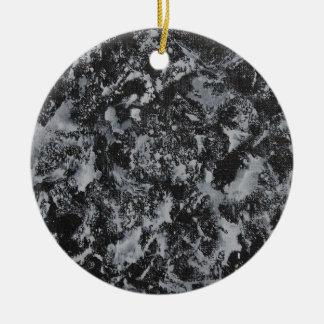 Ornamento De Cerâmica Tinta branca em #4 preto