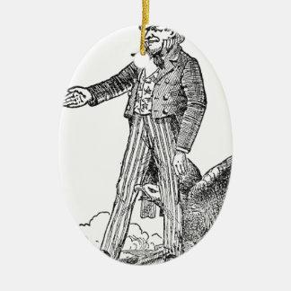 Ornamento De Cerâmica Tio Sam
