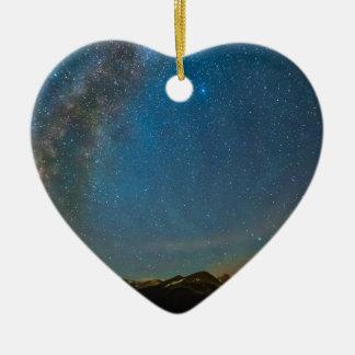 Ornamento De Cerâmica Tipo da Via Láctea de Colorado da noite