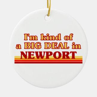 Ornamento De Cerâmica Tipo de I´m de uma grande coisa em Newport