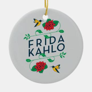 Ornamento De Cerâmica Tipografia floral de Frida Kahlo |