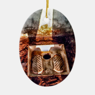 Ornamento De Cerâmica Toalete para dentro