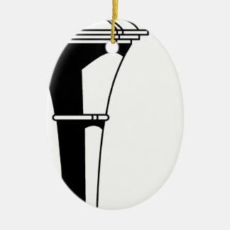 Ornamento De Cerâmica Tocha