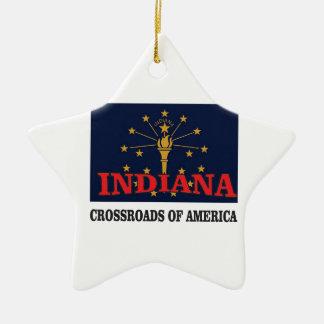 Ornamento De Cerâmica Tocha de Indiana