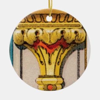 Ornamento De Cerâmica tocha dourada da glória
