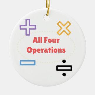 Ornamento De Cerâmica Todas as quatro operações