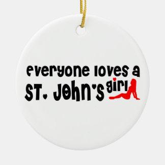 Ornamento De Cerâmica Todos ama a menina de um St John