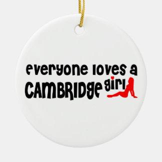 Ornamento De Cerâmica Todos ama uma menina de Cambridge