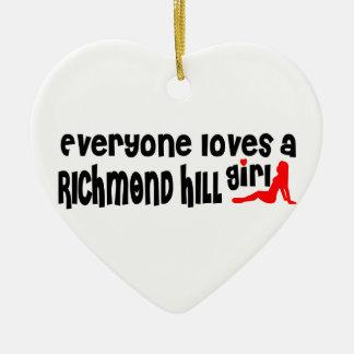 Ornamento De Cerâmica Todos ama uma menina de Richmond