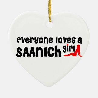 Ornamento De Cerâmica Todos ama uma menina de Saanich