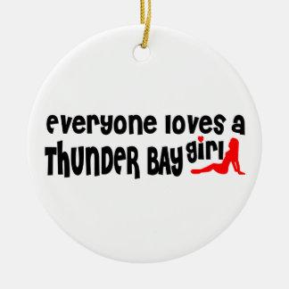 Ornamento De Cerâmica Todos ama uma menina de Thunder Bay