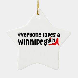 Ornamento De Cerâmica Todos ama uma menina de Winnipeg