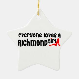Ornamento De Cerâmica Todos ama uma menina do monte de Richmond