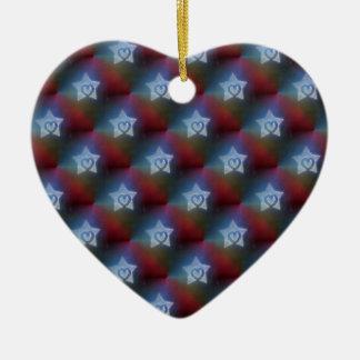 Ornamento De Cerâmica Todos é uma estrela