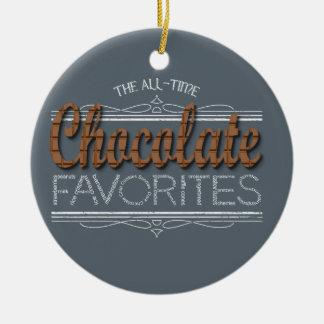 Ornamento De Cerâmica Todos os favoritos do chocolate