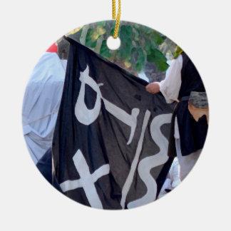 Ornamento De Cerâmica tomada abaixo da imagem do poster da bandeira de