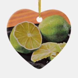Ornamento De Cerâmica Tónico e limão