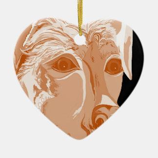 Ornamento De Cerâmica Tons do Sepia de Rottweiler