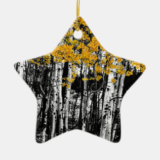 Ornamento De Cerâmica Toque de Aspen da laranja