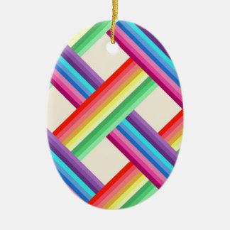 Ornamento De Cerâmica Torção do arco-íris