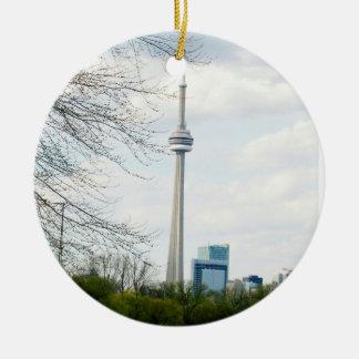 Ornamento De Cerâmica Torre da NC e de Toronto para baixo da cidade