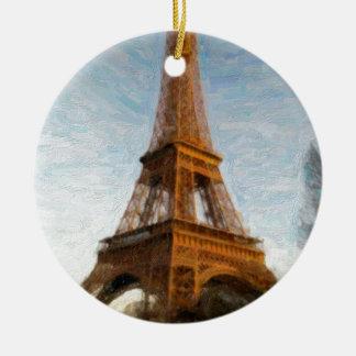 Ornamento De Cerâmica torre Eiffel abstrata