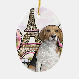 Ornamento De Cerâmica torre Eiffel Paris do lebreiro