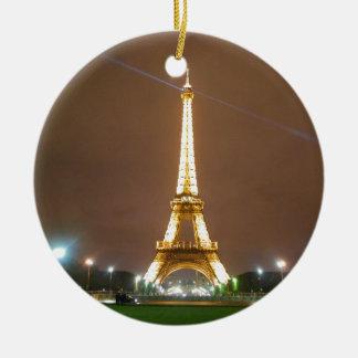 Ornamento De Cerâmica Torre Eiffel Paris France - noite da primavera