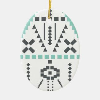 Ornamento De Cerâmica Totem de Boho, símbolo étnico, Hippie, asteca,