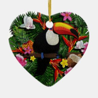 Ornamento De Cerâmica Toucan