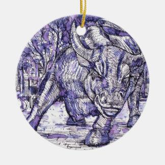 Ornamento De Cerâmica touro de Wall Street