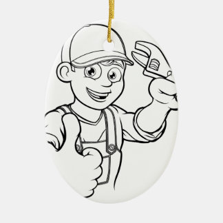 Ornamento De Cerâmica Trabalhador manual do mecânico ou do canalizador