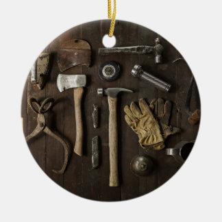Ornamento De Cerâmica Trabalhadores manuais temáticos, de madeira da