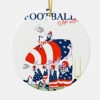 Ornamento De Cerâmica Trabalho da equipa de futebol, fernandes tony