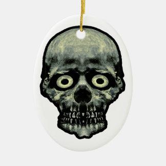 Ornamento De Cerâmica Trabalhos de arte Scared engraçados do crânio