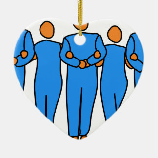 Ornamento De Cerâmica Trabalhos em equipe