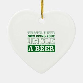 Ornamento De Cerâmica Traga a tio uma cerveja