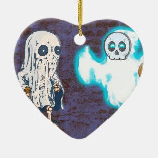Ornamento De Cerâmica Traje do fantasma e do esqueleto