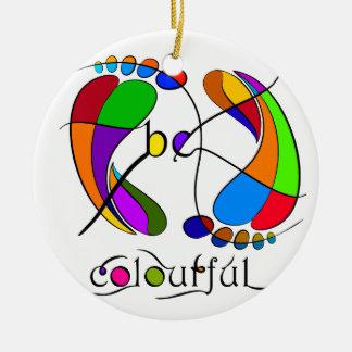 Ornamento De Cerâmica Trapsanella - seja colorido