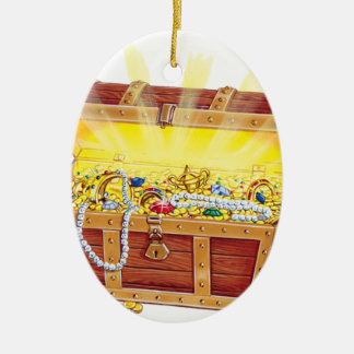 Ornamento De Cerâmica Treasurechest