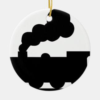 Ornamento De Cerâmica Trem de estrada de ferro