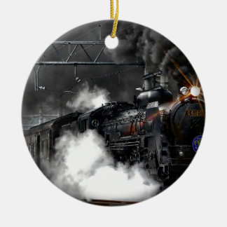 Ornamento De Cerâmica Trem do vapor