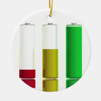 Ornamento De Cerâmica Três baterias