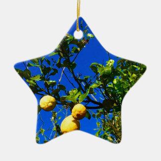 Ornamento De Cerâmica Três limões sicilianos