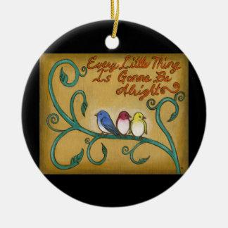 Ornamento De Cerâmica Três pássaros pequenos