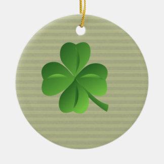 Ornamento De Cerâmica Trevo afortunado irlandês na moda elegante
