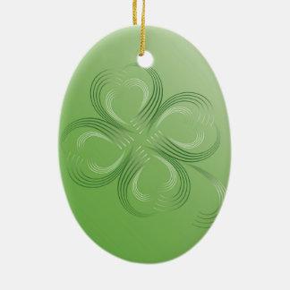 Ornamento De Cerâmica Trevo de quatro folhas